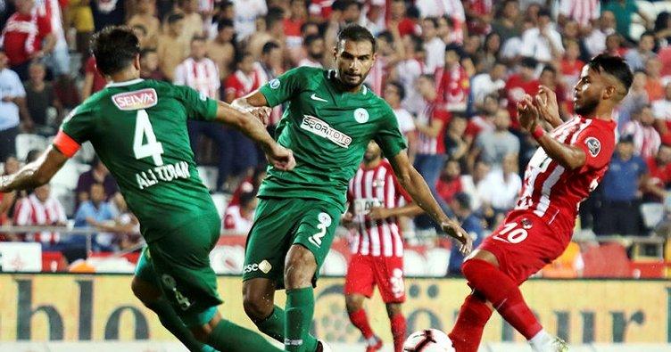 6 gollü maçta Antalyaspor ile Konyaspor yenişemedi