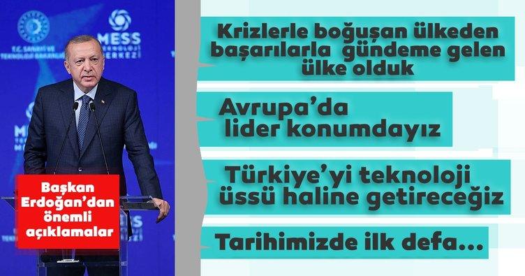 Son dakika: Başkan Recep Tayyip Erdoğan'dan İstanbul'da önemli açıklamalar: Türkiye'yi teknoloji üssü haline getireceğiz