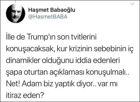 Trump Tan Turkiye Ye Finansal Saldiri Itirafi Dunya Haberleri