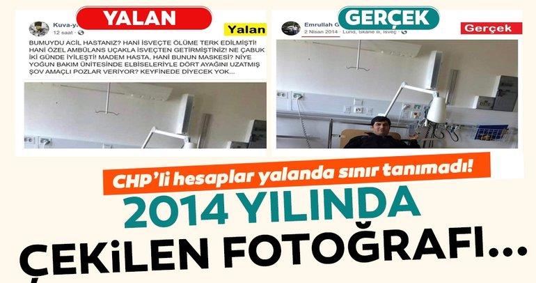 Hastane fotoğrafı yalanı da çöktü!