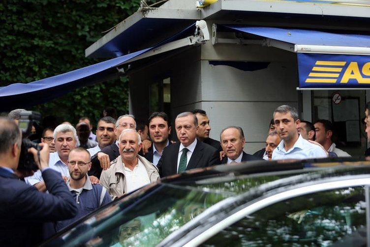 Erdoğan'dan taksicilere sürpriz ziyaret
