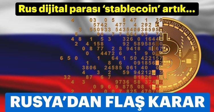 Rus dijital parası 'stablecoin' Ruble'ye eşdeğer olacak!