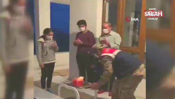 Bitlis'te Jandarmadan küçük Zeynep'e duygulandıran doğum günü sürprizi | Video