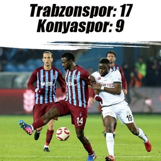Trabzonspor - Konyaspor 34. randevuda