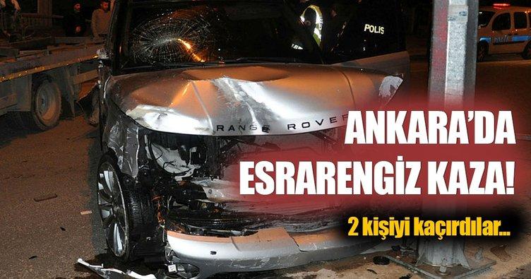 Kaza yapan araçtakiler kaza yerinden kaçırıldı!
