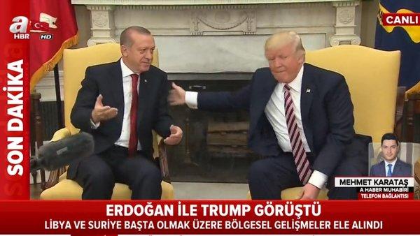 Cumhurbaşkanı Erdoğan'dan ABD Başkanı Trump ile flaş görüşme   Video