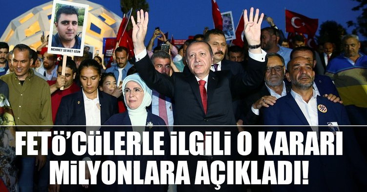 Cumhurbaşkanı Erdoğan:  Tek tip elbise ile mahkemelere çıkaracağız