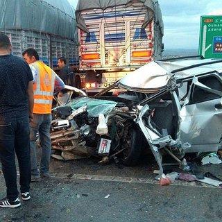 Osmaniye`de zincirleme trafik kazası: 1 ölü, 4 yaralı!