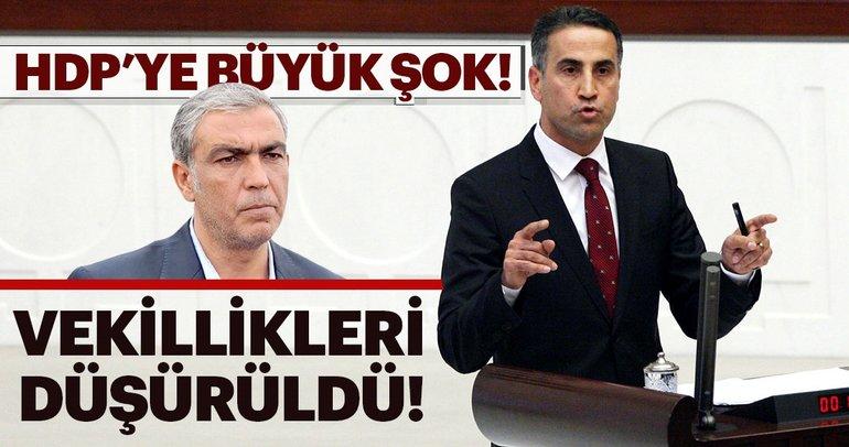 Son dakika: HDP'li isimlerin vekillikleri düşürüldü