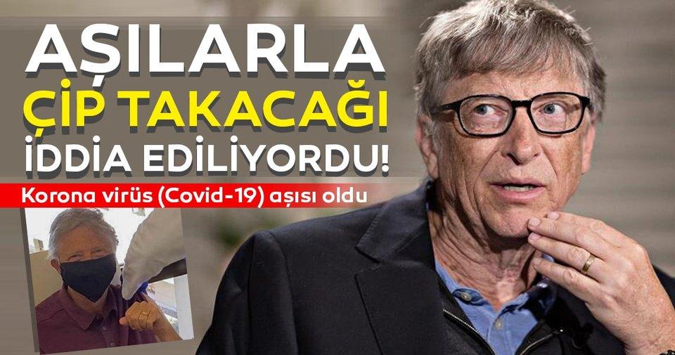 Son dakika: Koronavirüs aşısı ile çip takacağı iddia ediliyordu! Bill Gates de Kovid-19 aşısı oldu