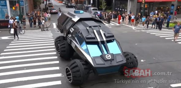 NASA'nın dev canavarı sokaklara indi