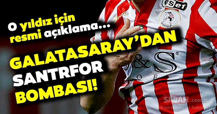Son dakika: Galatasaray'dan santrfor bombası! O yıldız için resmi açıklama...
