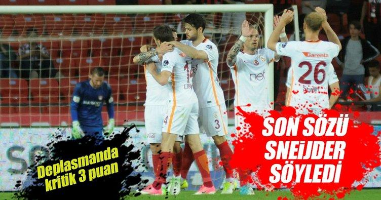 Galatasaray Gaziantepspor deplasmanından galip çıktı
