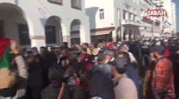 Fas'ta ABD'nin sözde barış planı protesto edildi | Video