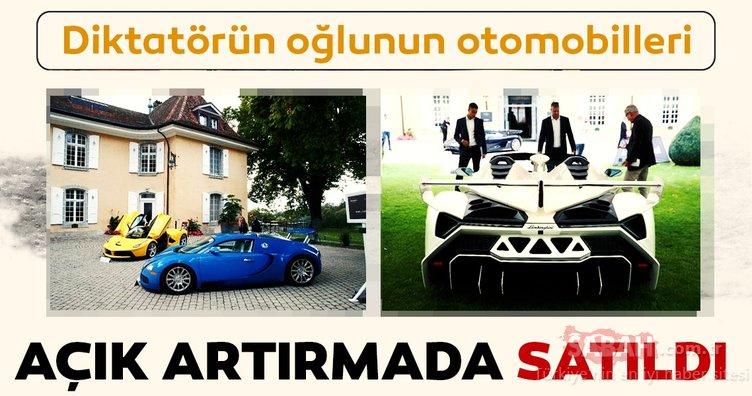 Diktatörün oğlunun otomobilleri açık artırmada satıldı