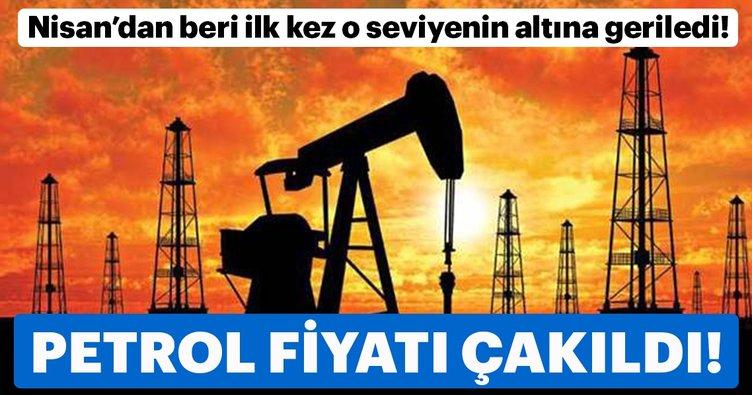 Brent petrol Nisan'dan beri ilk kez o seviyenin altına geriledi!