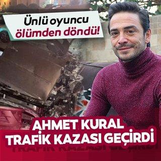 Son dakika haberi: Ünlü oyuncu Ahmet Kural trafik kazası geçirdi! Ahmet Kural sevenlerini korkuttu!