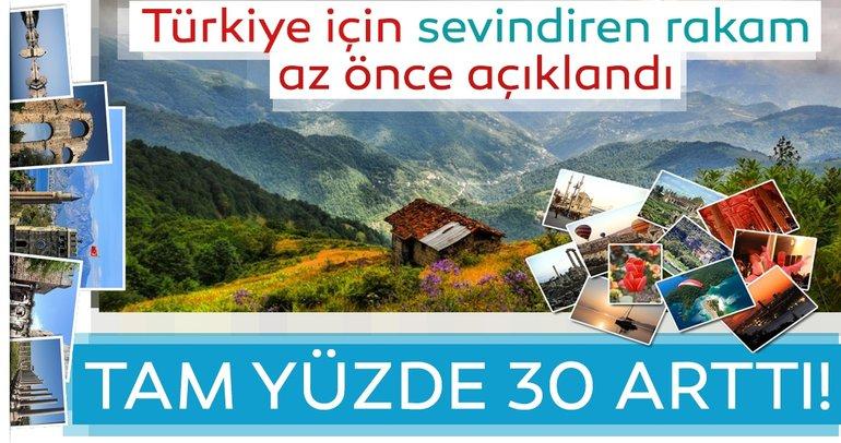 Son dakika: Turkiye'nin turizm geliri yüzde 30 arttı