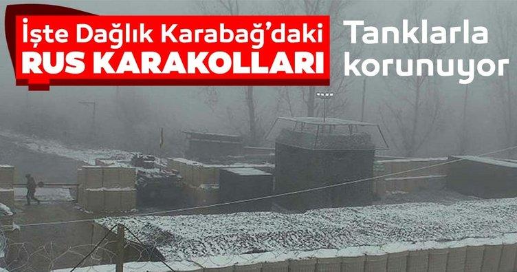 Rusya, Dağlık Karabağ'da kurulan karakolların görüntülerini paylaştı