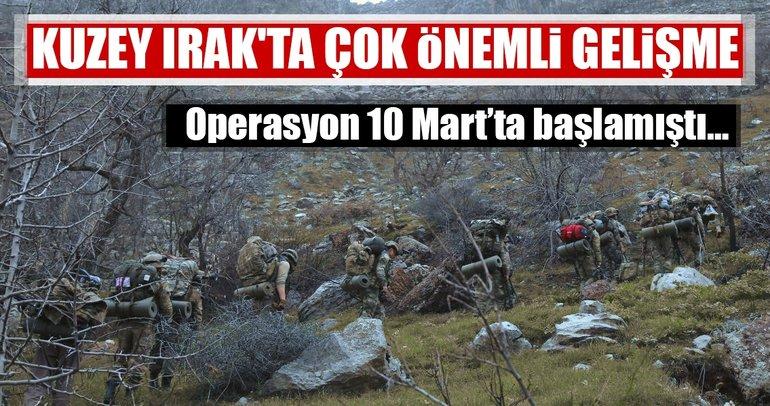 Son Dakika: Kuzey Irak'ta PKK'dan temizlenen bölgelerde çok önemli gelişme