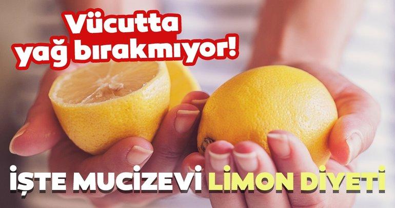 Limonun faydaları saymakla bitmiyor! 5 günde 3 kilo yağdan gidiyor! İşte limon diyeti..