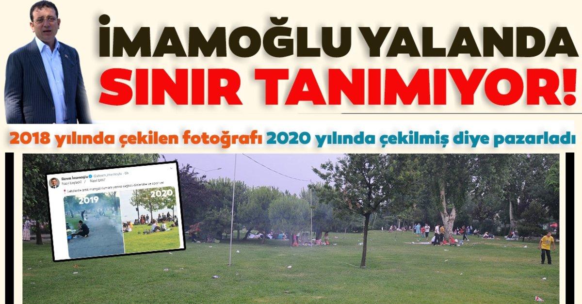 CHP'li İmamoğlu yalanda sınır tanımıyor! 2018 yılında çekilen fotoğrafı 2020 yılında çekilmiş diye…