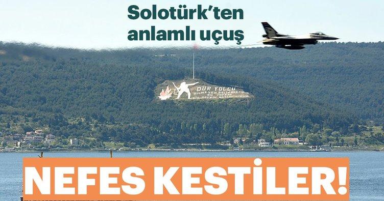 Solotürk'ten anlamlı uçuş! Nefes kestiler