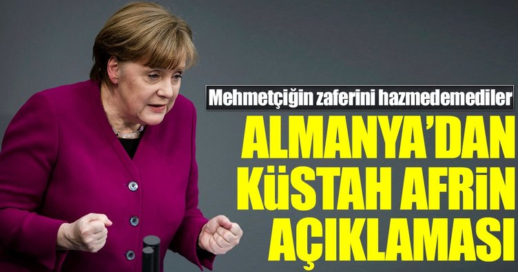 Merkel'den küstah Afrin açıklaması