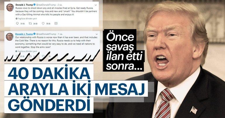 Trump'tan son dakika açıklaması: Füzelerimiz geliyor, hazır ol Rusya