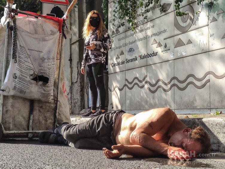 İstanbul'da son dakika! Kağıt toplayıcısı ayılır ayılmaz saldırmaya başladı