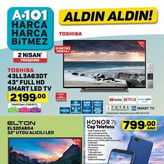 A101 aktüel 2 Nisan ürünler kataloğu satışa çıkıyor! Bu hafta A101 aktüel ürünler kataloğunda neler var?