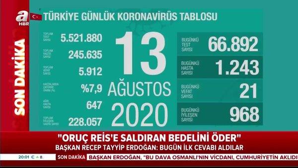 Son dakika! 13 Ağustos koronavirüs rakamları açıklandı | Video