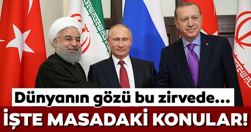 Cumhurbaşkanı Erdoğan, Putin ve Ruhani bugün bir araya gelecek) ile ilgili görsel sonucu