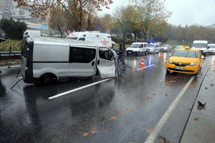 Şişli'de feci kaza: Sürücü, aracın motoruyla beraber yola fırladı
