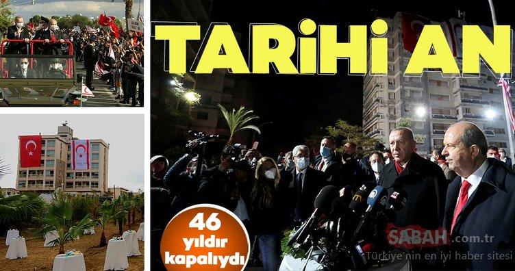 Kapalı Maraş'ta tarihi an! Başkan Erdoğan, Devlet Bahçeli ve Ersin Tatar…