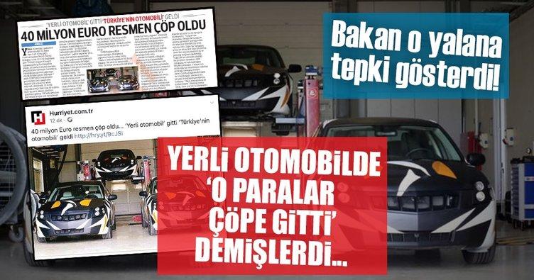 Yerli otomobilde '47 milyon euro çöpe gitti' demişlerdi...Bakan o yalana tepki gösterdi