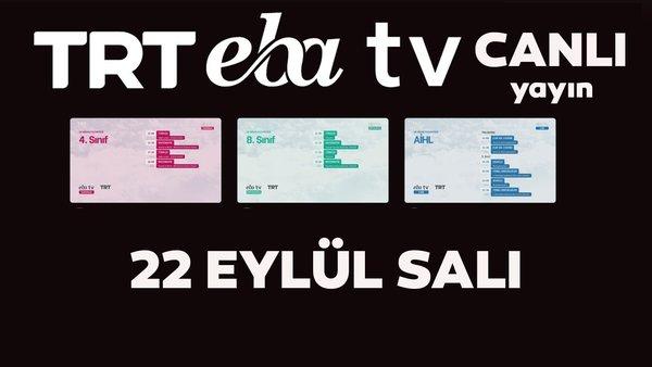 TRT EBA TV canlı izle! (22 Eylül 2020 Salı) 'Uzaktan Eğitim' Ortaokul, İlkokul, Lise kanalları canlı yayın | Video