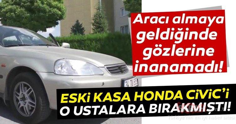 Eski kasa Honda Civic'i onlara bıraktı! Aracını almaya geldiğinde gördükleri karşısında şoke oldu!