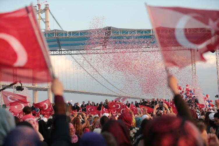 Osmangazi Köprüsü açıldı