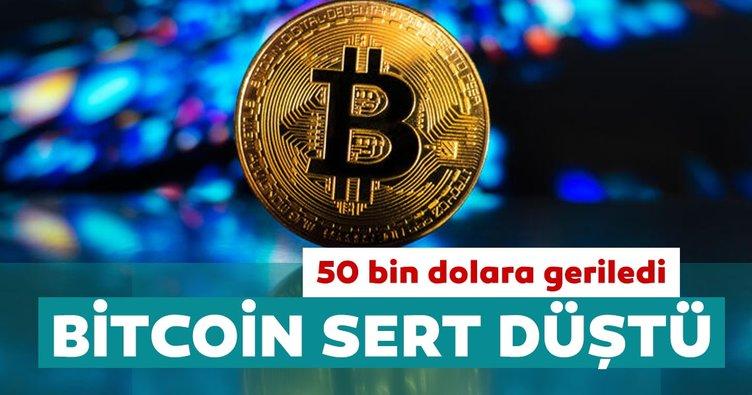 Bitcoin sert düştü: 50 bin dolara geriledi