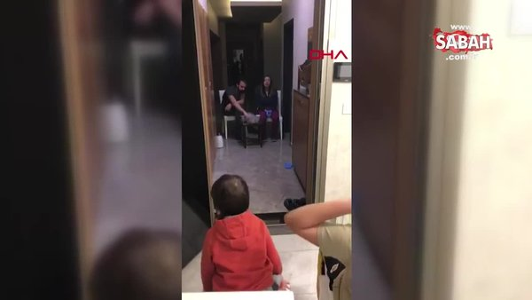 İşte doktor çiftin koronavirüs için aldığı önlem! Çocuklarıyla görüştükleri bu görüntüler duygulandırdı | Video