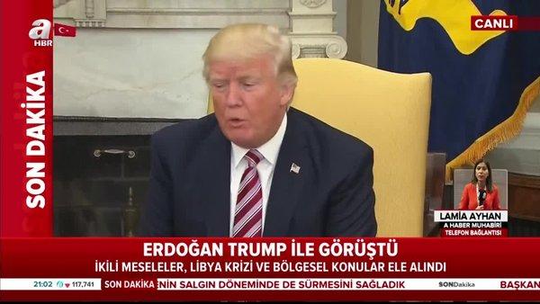Son dakika! Başkan Erdoğan ABD Başkanı Donald Trump ile görüştü | Video