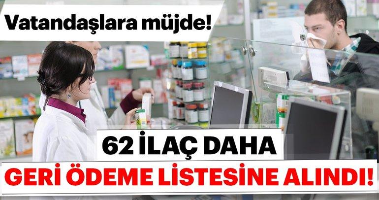 62 ilaç daha geri ödeme listesine alındı! Geri ödeme listesine alınacak ilaçlar...