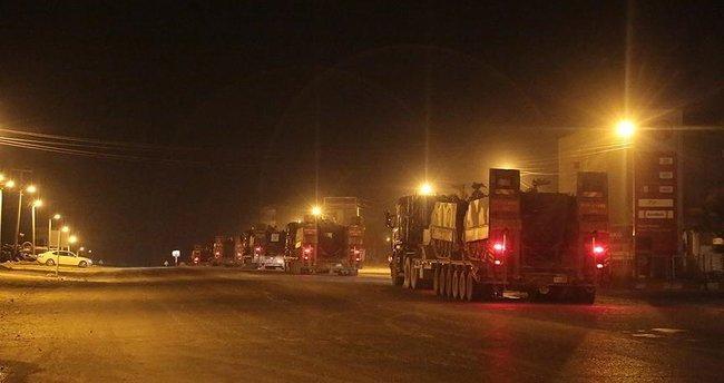 Zırhlı araçlar Silopi'ye ulaştı