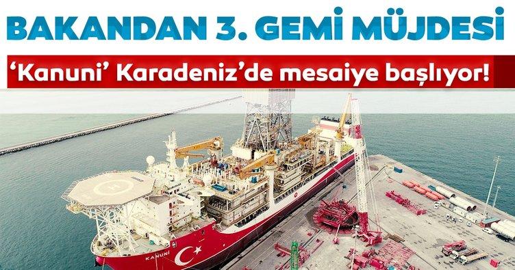 Kanuni Karadeniz'de mesaiye başlıyor