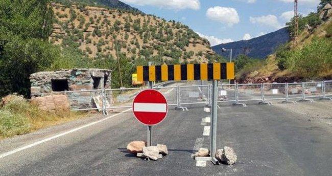 Tunceli'de teröristler araç gasbetti