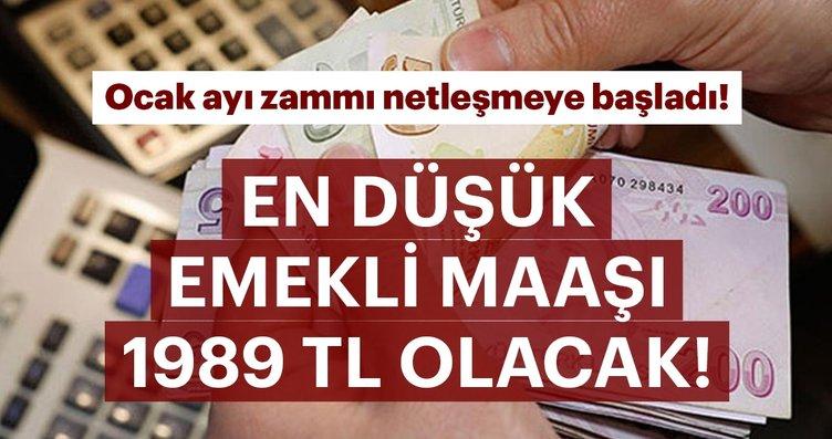 Emekli maaşı en az 1989 lira olacak! Emekli...