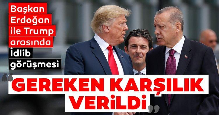 Son Dakika Haberi: Başkan Erdoğan ile ABD Başkanı Trump arasında kritik İdlib görüşmesi
