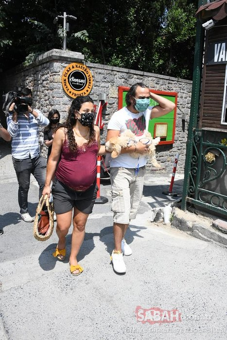 Cansu Tosun karnı burnunda böyle görüntülendi… Erkan Kolçak Köstendil'in eşi Cansu Tosun doğum için gün sayıyor!