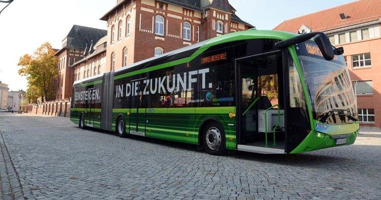 Elektrikli otobüs seferlere başladı